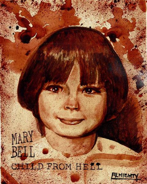 Serial Killer Painting - Mary Bell Dry Blood by Ryan Almighty