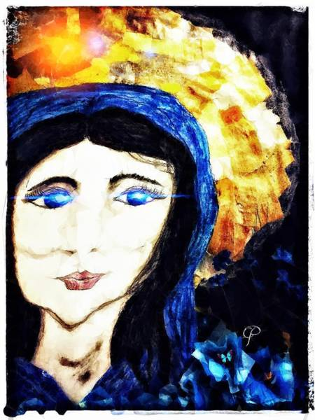 Mixed Media - Mary by Christine Paris