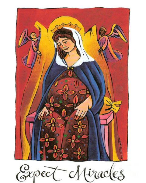 Painting - Mary - Expect Miracles - Mmexm by Br Mickey McGrath OSFS