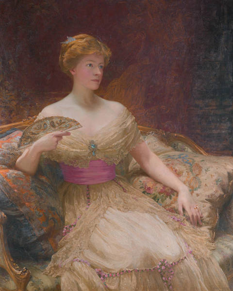 Wall Art - Painting - Mary Frances Mackenzie by Frank Dicksee
