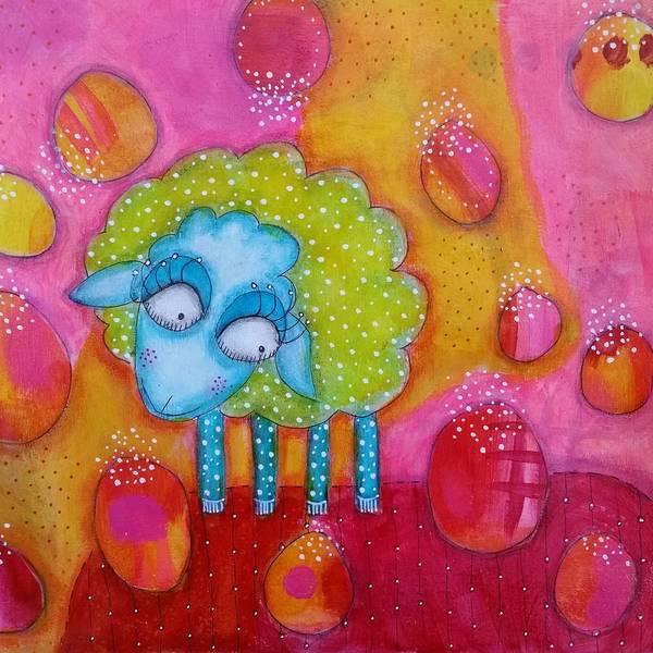Joyous Mixed Media - Mary Had A Little Lamb by Barbara Orenya