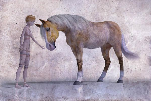 Wall Art - Digital Art - Mary Jane And The Horse 101f Betsy Knapp by Betsy Knapp