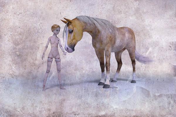 Wall Art - Digital Art - Mary Jane And The Horse 101g Betsy Knapp by Betsy Knapp