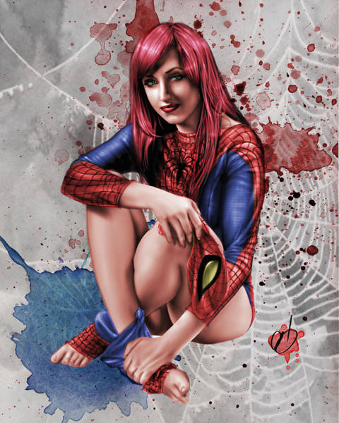 Painting - Mary Jane Parker by Pete Tapang