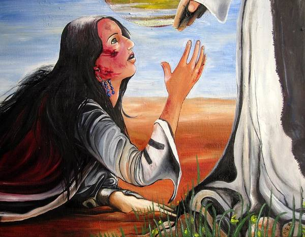 Scriptural Painting - Mary Magdalene by Mary Ellen Frazee