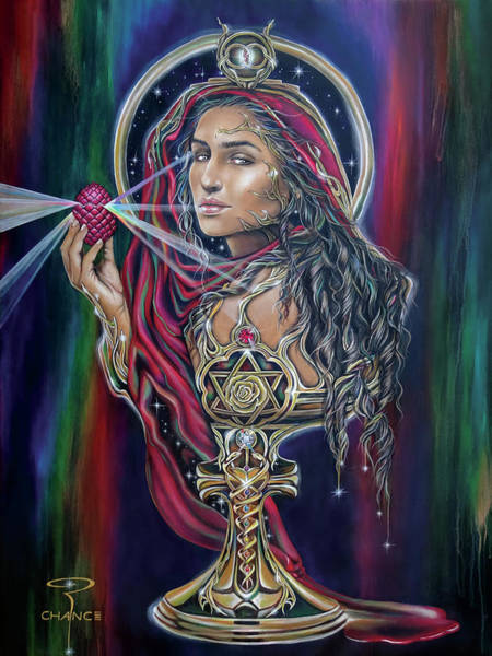 Womb Painting - Mary Magdalen - The Holy Grail by Robyn Chance