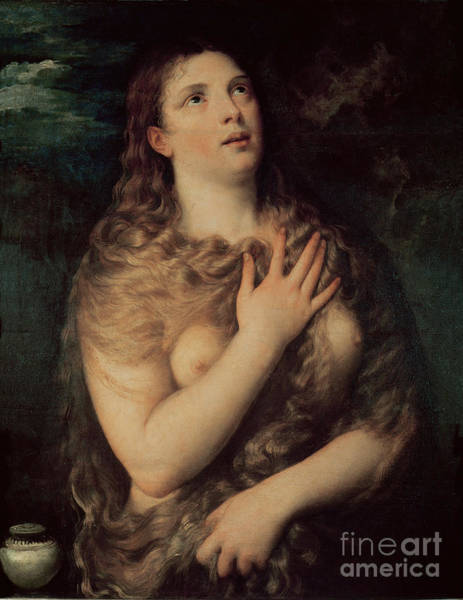 Wall Art - Painting - Mary Magdalene by Titian