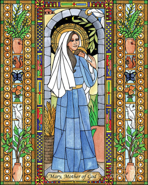 Painting - Mary, Mother Of God by Brenda Nippert