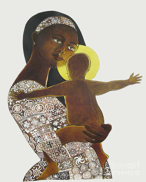 Painting - Mary, Mother Of God - Mmmgo by Br Mickey McGrath OSFS