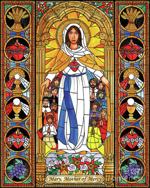 Painting - Mary, Mother Of Mercy by Brenda Nippert