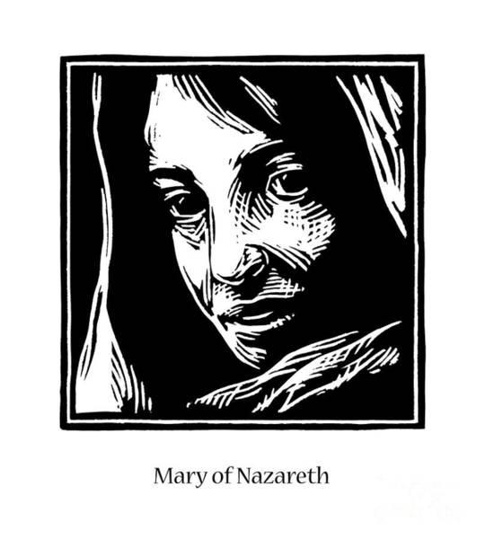 Painting - Mary Of Nazareth - Jlman by Julie Lonneman