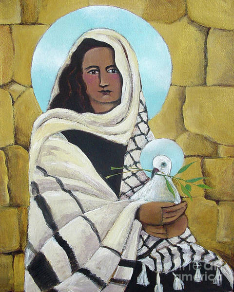 Painting - Mary, Our Lady Of Peace - Mmlop by Br Mickey McGrath OSFS
