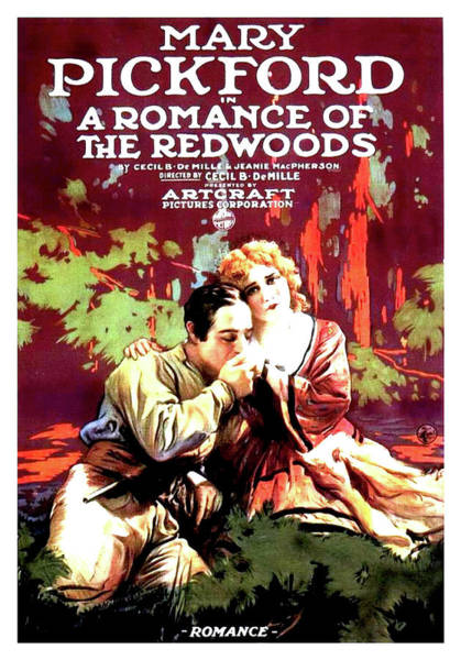 Nostalgia Drawing - Mary Pickford In A Romance Of The Redwoods 1917 by Mountain Dreams