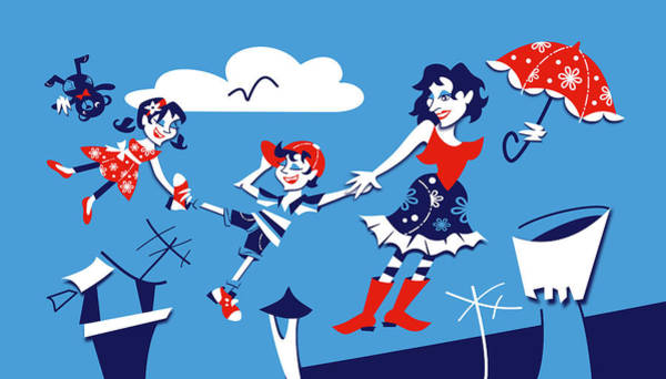 Wall Art - Digital Art - Mary Poppins - Children Book Illustration by Arte Venezia