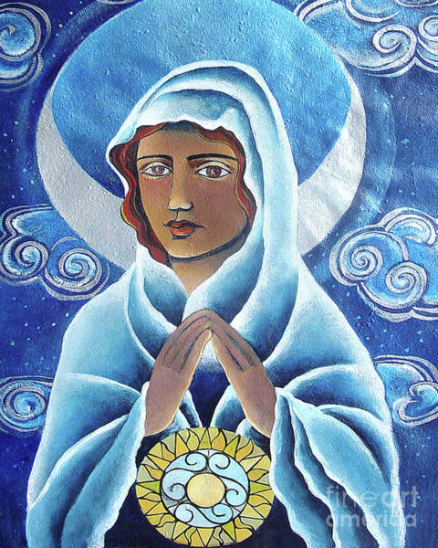Painting - Mary, Queen Of The Prophets - Mmqop by Br Mickey McGrath OSFS
