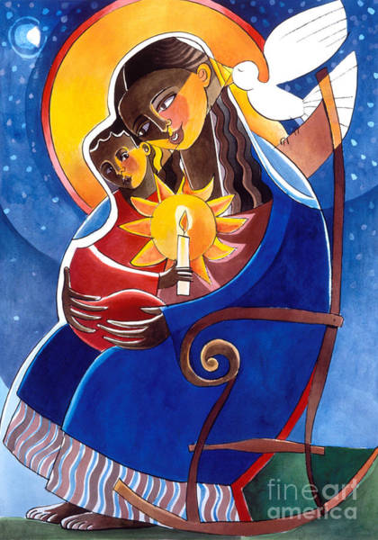 Painting - Mary, Seat Of Wisdom - Mmwis by Br Mickey McGrath OSFS