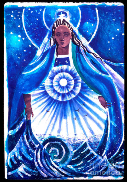Painting - Mary, Star Of The Sea - Mmsos by Br Mickey McGrath OSFS