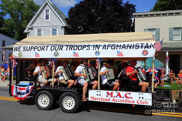 Photograph - Maryland Accordion Club At 4th July Parades Catonsville by James Brunker