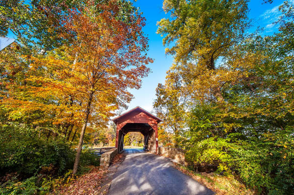 Photograph - Maryland Covered Bridge In Autumn by Patrick Wolf