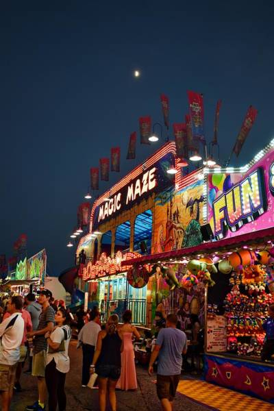 Timonium Wall Art - Photograph - Maryland State Fair Midway by Doug Swanson