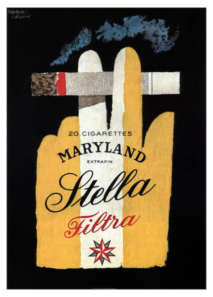 Maryland Mixed Media - Maryland Stella - Cigarettes - Vintage Advertising Poster by Studio Grafiikka
