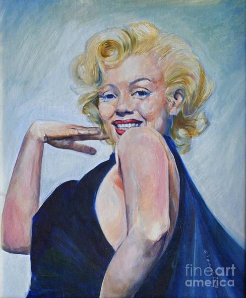 Painting - Marylin As She Saw Herself by P Anthony Visco