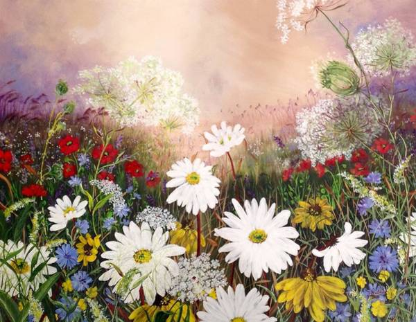 Wall Art - Painting - Mary's Meadow by Laurel Adams