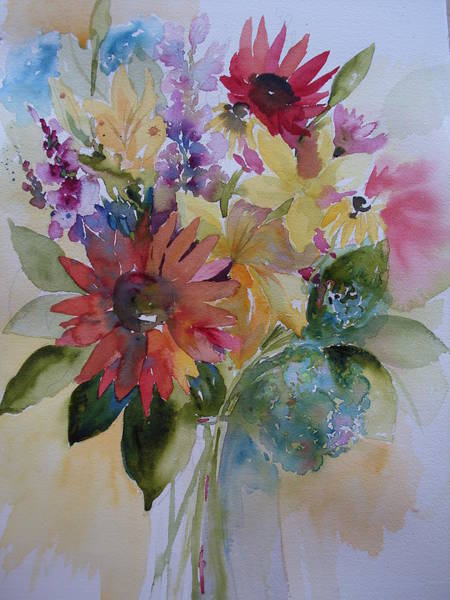 Snapdragons Painting - Marys Obsession by Sandra Strohschein