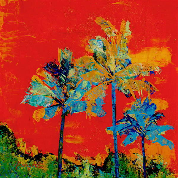 Painting - Mary's Palm Trees by Marionette Taboniar