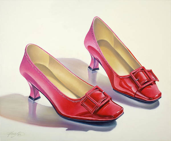 Wall Art - Painting - Mary's Red Shoes by Gema Lopez