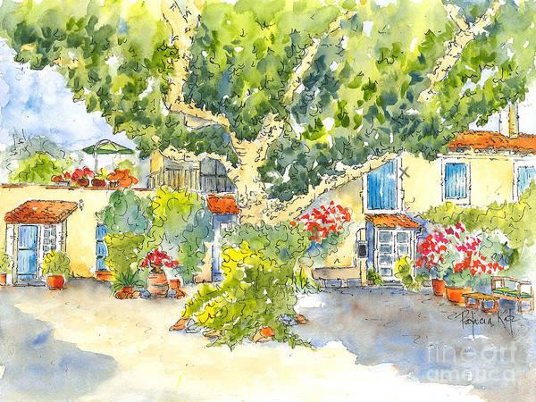 Painting - Mas St Antoine Courtyard 1 by Pat Katz