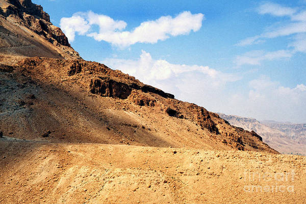 Jewish Homeland Photograph - Masada Mountaintop Fortress by Thomas R Fletcher