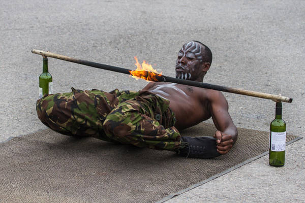 Photograph - Masai Dancer With Fire Limbo by Clare Bambers