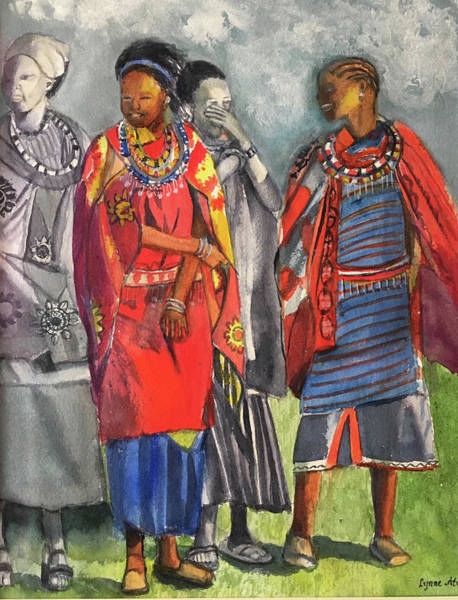 Painting - Masai Women by Lynne Atwood