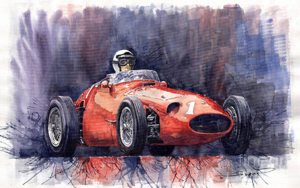 Auto Wall Art - Painting - Maserati 250f by Yuriy Shevchuk