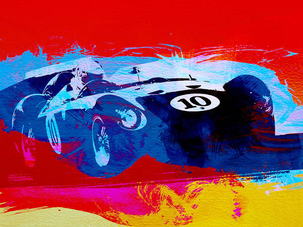 Old Car Wall Art - Painting - Maserati On The Race Track 1 by Naxart Studio