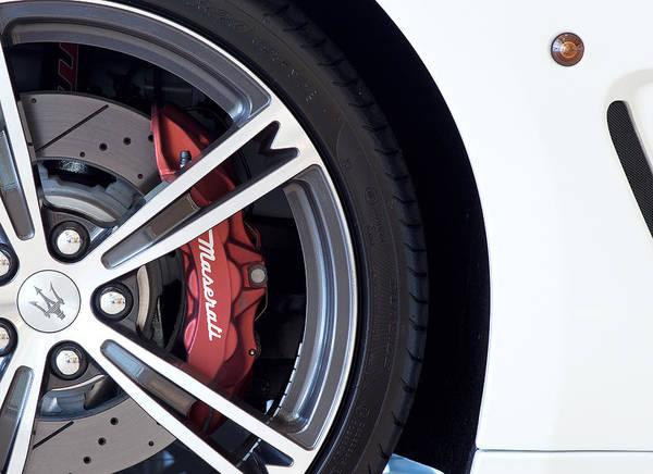 Maserati Wheel White Art Print