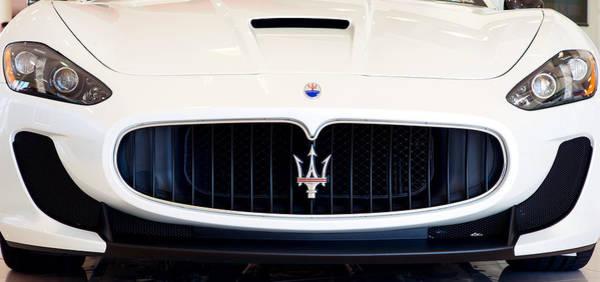 Maserati White Pano 121715 Art Print