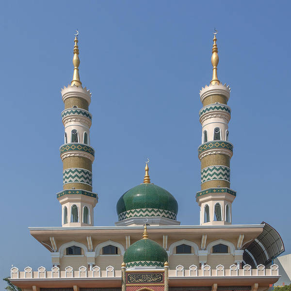 Photograph - Masjid Darul-ibadah Domes And Minarets Dthcb0239 by Gerry Gantt