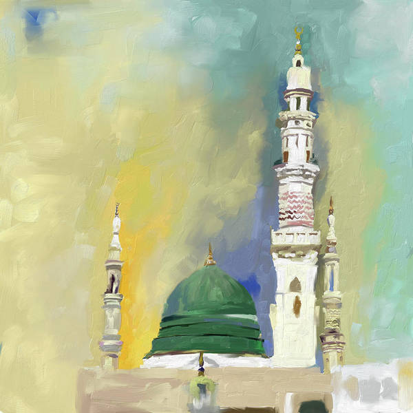 Wall Art - Painting - Masjid E Nabwi 595 1 by Mawra Tahreem