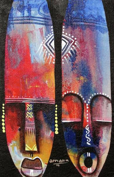 Painting - Mask 1 by Appiah Ntiaw
