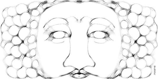 Digital Art - Mask 2 by Doug Duffey