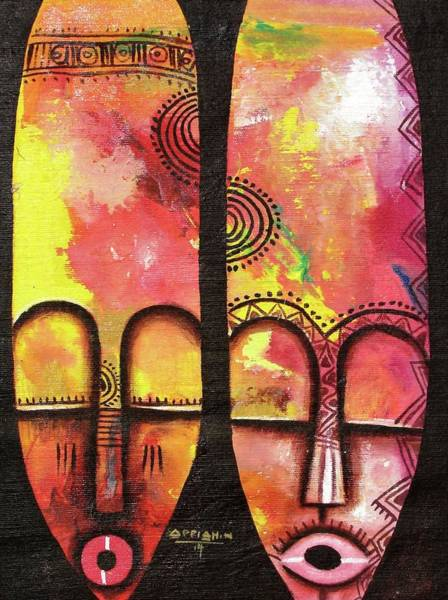Painting - Mask 3 by Appiah Ntiaw