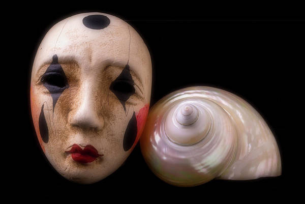 Wall Art - Photograph - Mask And White Shell by Garry Gay