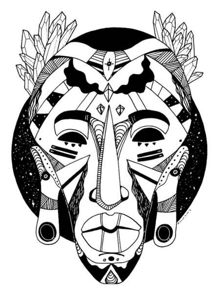 Drawing - Mask No. 1 by Kenal Louis