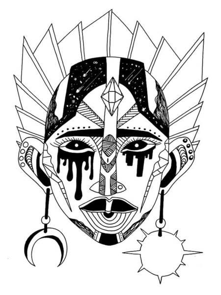 Drawing - Mask No. 12 by Kenal Louis