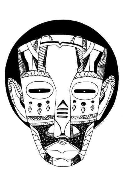 Drawing - Mask No. 3 by Kenal Louis