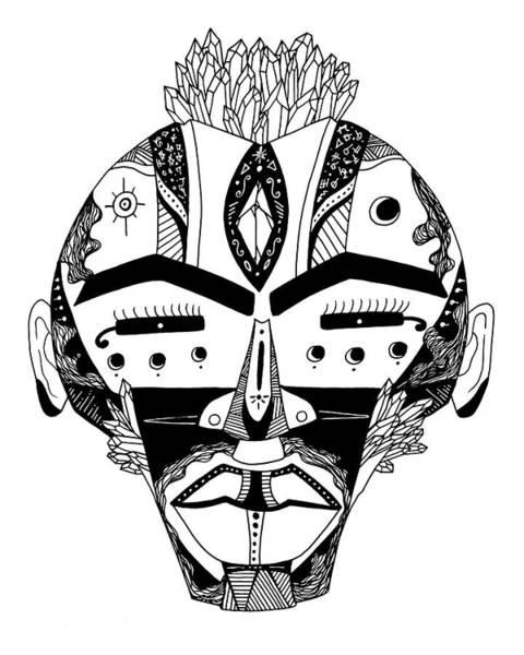 Drawing - Mask No 4 by Kenal Louis