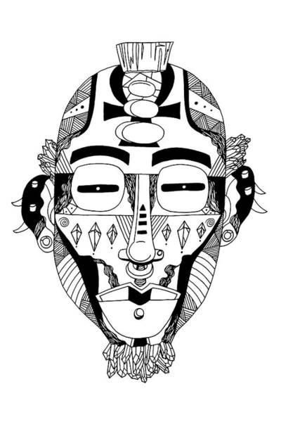 Drawing - Mask No. 5 by Kenal Louis