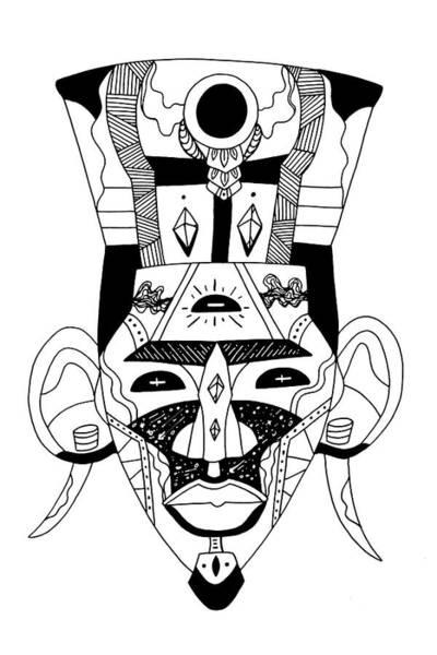 Drawing - Mask No. 6 by Kenal Louis
